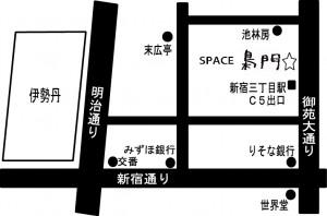 SPACE 梟門map